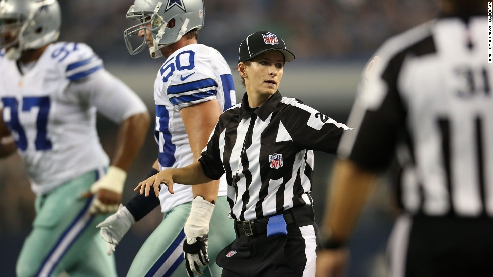 Shannon Eastin became first woman to officiate an NFL regular-season game in 2012.