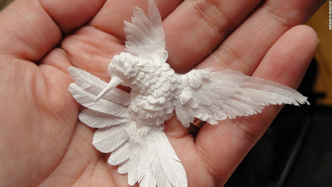 Astonishing Sculptures Made From Nothing But Paper CNN Style - Artist creates amazing paper sculptures ever seen