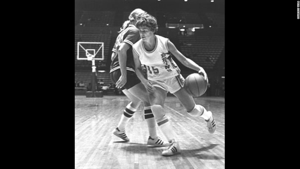 Basketball standout Ann Meyers Drysdale was the first woman to earn a full athletic scholarship from University of California-Los Angeles. She was offered a free-agent contract with the NBA's Indiana Pacers in 1979 -- unprecedented for a female player.