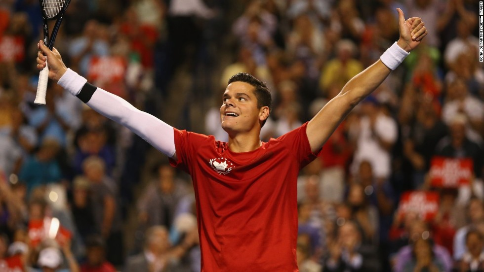 Like Bouchard, Raonic is being tipped as a future grand slam winner. He has one of the biggest serves in the history of tennis.