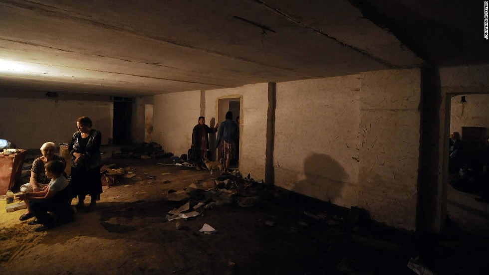 Many Donetsk residents have sought shelter underground. Many in Soviet or WWII era cellars.