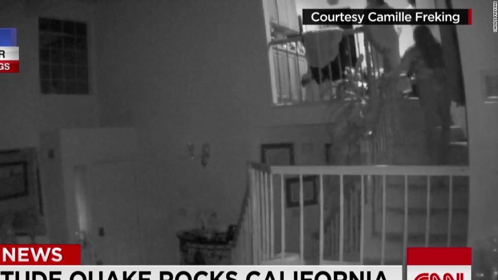 See earthquake rock family's living room - CNN Video