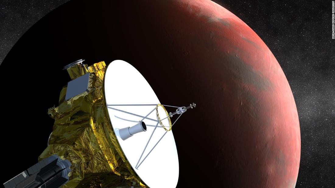 NASA's New Horizons probe beams back its first color image of Pluto