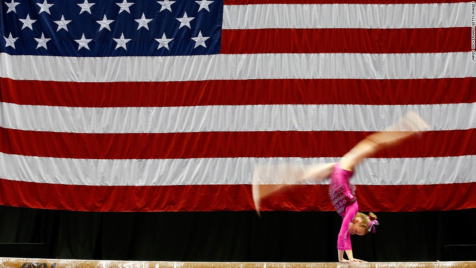 Abby Paulson competes in the junior women preliminaries during the 2014 P&G Gymnastics Championships on Thursday, August 21, in Pittsburgh, Pennsylvania.