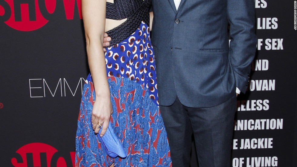 Claire Danes and Hugh Dancy attend Showtime 2014 Emmy Eve Soiree on August 24 in West Hollywood, California.