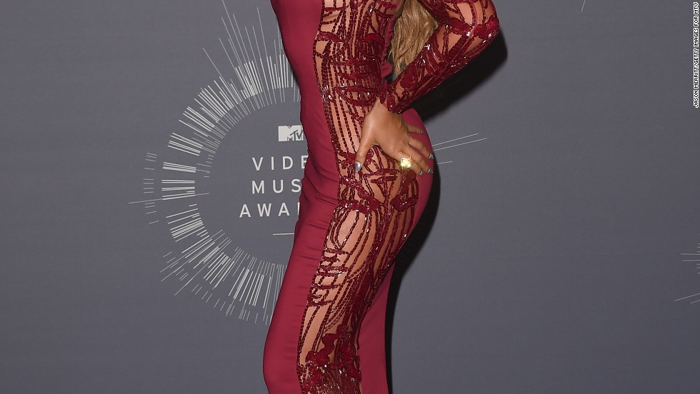 Beyonce poses in the press room after the 2014 MTV Video Music Awards at on August 24 in Inglewood, California.