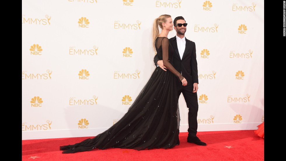 "Behati Prinsloo and Adam Levine (Levine, ""The Voice"")"