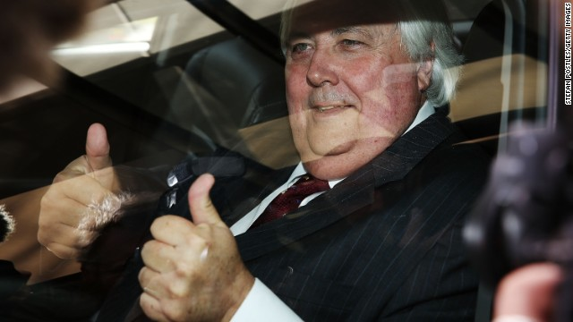 Clive Palmer pictured after speaking at the National Press Club on July 7, 2014 in Canberra, Australia.