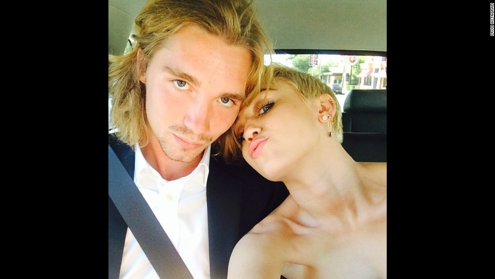 "Miley Cyrus was excited about Jesse Helt escorting her to the 2014 MTV Video Music Awards. She posted their picture on social media with the caption ""My date :) #jesse #myfriendsplace #mtvVMAs2014."""