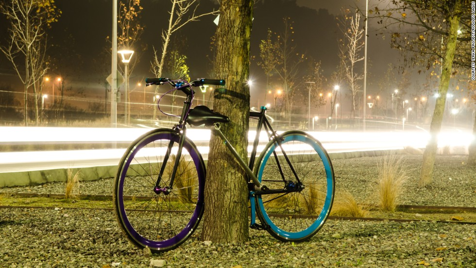"""The concept of making a lock out of the frame came to us as a team about two years ago,""  Andrés Roi Eggers, one of the three founders of the Yerka Project, told CNN. ""First we made some digital models and then we built a PVC frame, followed by our first functional bike prototype seen in the pictures."""