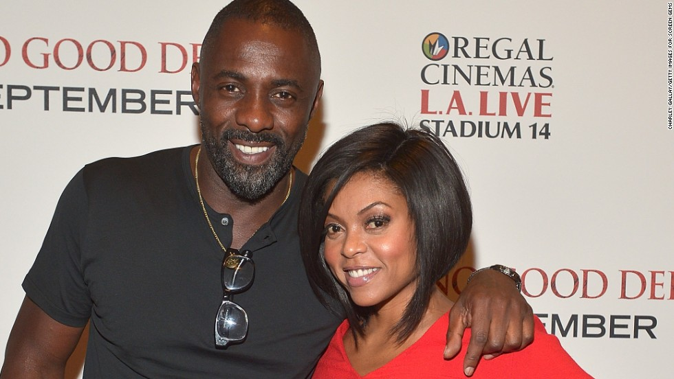 "Idris Elba and Taraji P. Henson make quite the pair at a Los Angeles screening of their new film ""No Good Deed"" on August 26."