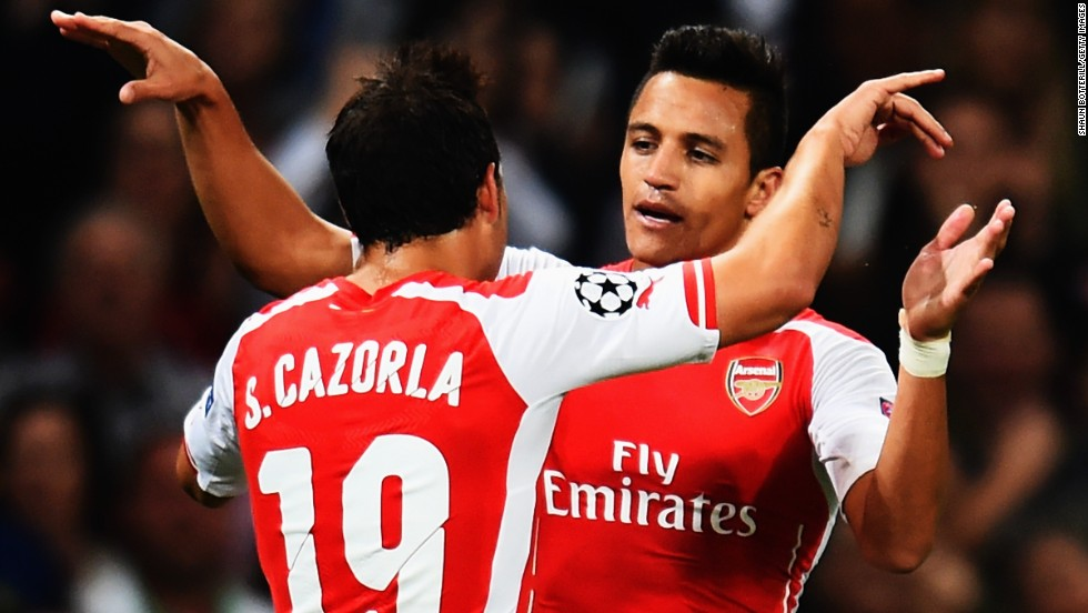 Cazorla hailed last year's signing Alexis Sanchez as the player of the season. The forward scored 21 goals in his debut Arsenal campaign before going on to help Chile win the Copa America on home soil.