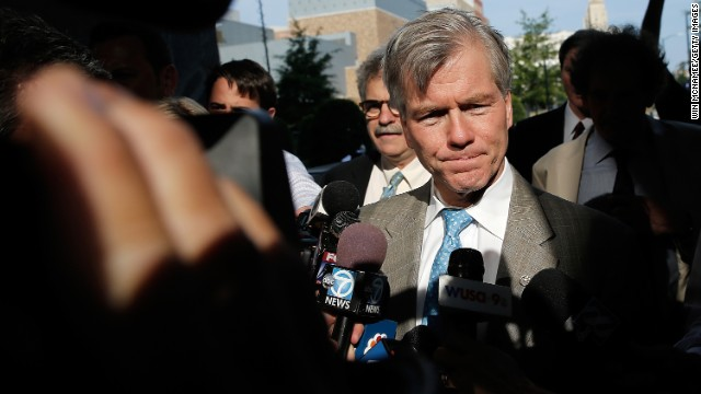 Former Virginia Gov. Bob McDonnell arrives at federal court on August 28  in Richmond, Virginia.