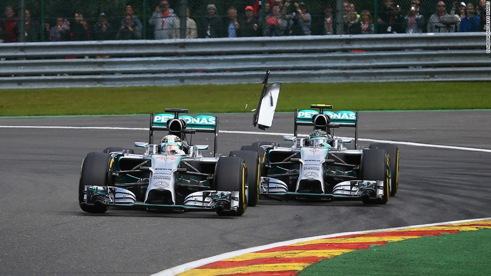 Dramas in his day job have also helped Hamilton to stay in the headlines. At the 2014 Belgian Grand Prix, his title rival and teammate Nico Rosberg collided with the British racer, sparking a row.
