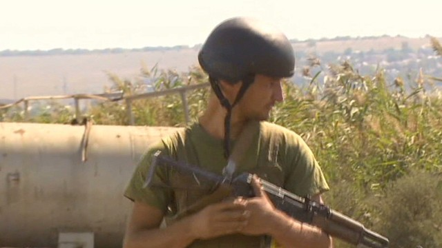 Some of Ukraine's fighters on retreat