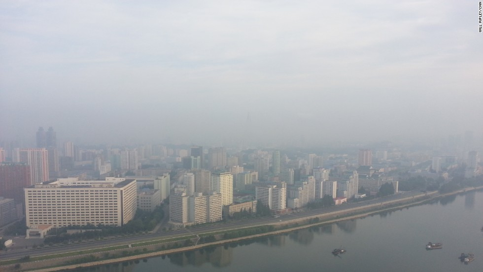 Good morning from a hazy Pyongyang, North Korea. The view from my 41st floor hotel room.