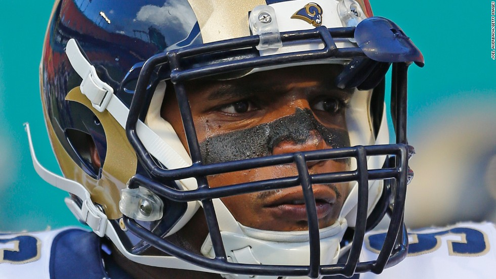 "Michael Sam looks on prior to the NFL preseason game between the St. Louis Rams and the Miami Dolphins on Thursday, August 28. Sam, who made history as the first openly gay player to be drafted into the NFL, <a href=""http://www.cnn.com/2014/08/30/us/michael-sam-nfl/index.html"">did not make the Rams' final 53-man roster.</a> ""The most worthwhile things in life rarely come easy, this is a lesson I've always known,"" Sam tweeted. ""The journey continues."""