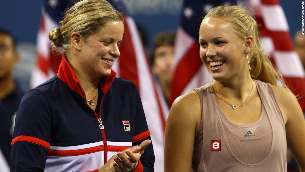 Wozniacki and defending champion Williams are now favorites to meet in the U.S. Open final. Wozniacki lost her only grand slam final in New York in 2009 to Kim Clijsters, left.