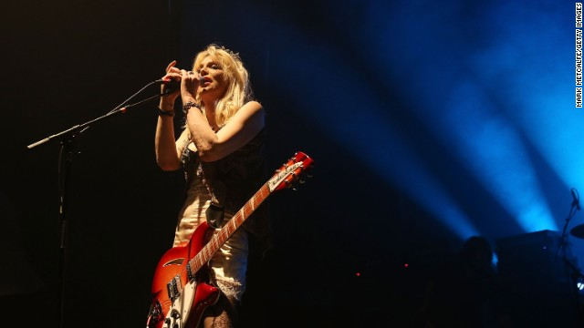 "Courtney Love is working with a co-writer on ""The Girl With the Most Cake."""