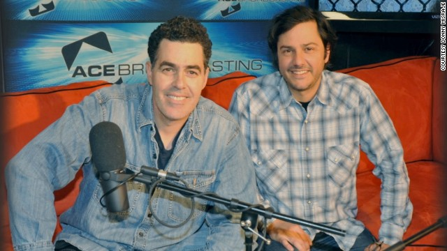 Adam Carolla, left, and Donny Misraje worked together on The Adam Carolla Show.
