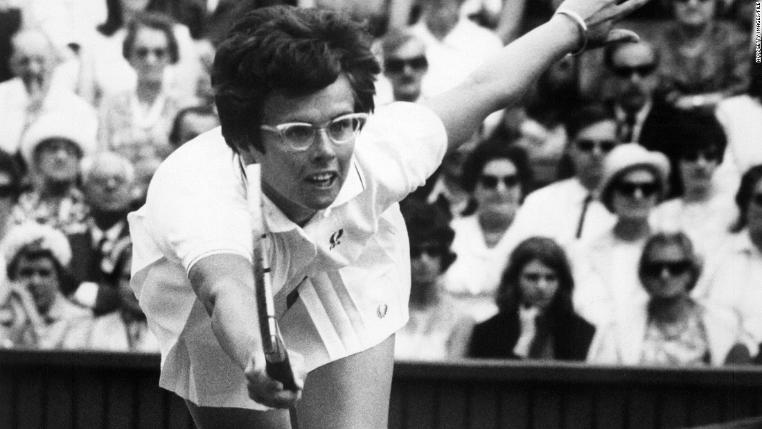 Back on the court, legendary American player Billie-Jean King didn't let a pair of oversized spectacles stop her reaching for success in the late 1960s.<br />King won the women's singles title at Wimbledon six times, the U.S. Open four times, and the Roland Garros tournament in Paris once.
