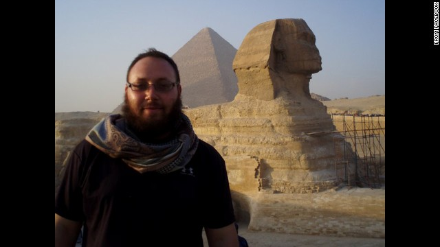 "The Facebook photos of Steve Sotloff, the journalist purportedly held captive by ISIS are being used under fair use guidelines. This means that you must write specifically to the photo, use only as much as is needed to make your editorial point, no use in promos, bumps or teases. Must font ""From Facebook."" Please consult your assigned attorney if you have questions."