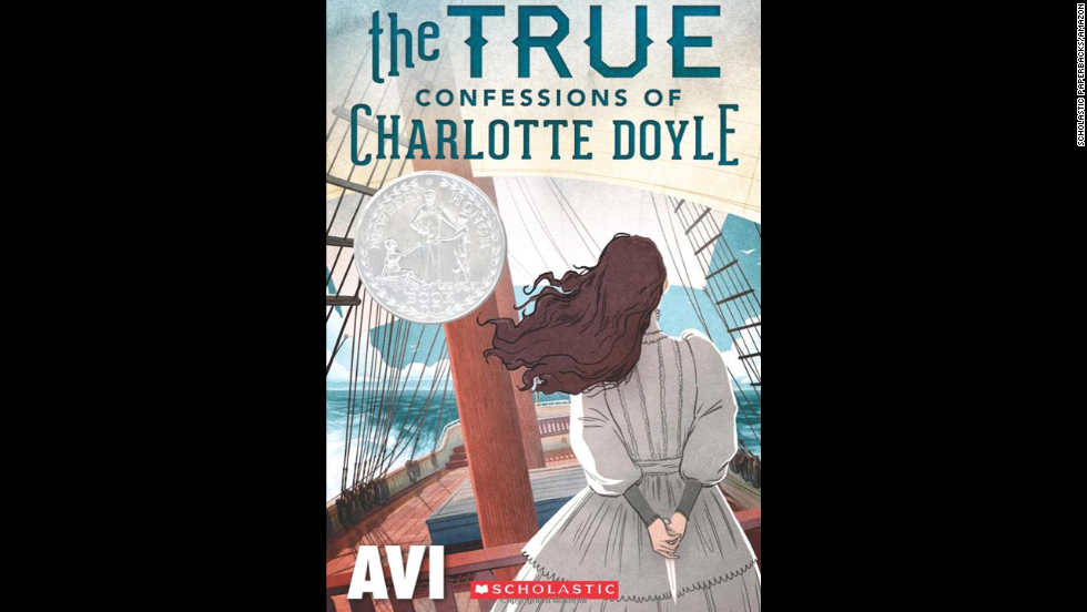 """The True Confessions of Charlotte Doyle"" by Avi, recommended for ages 10+, is solidly in the girl-centric camp, centering around the experiences of a female protagonist during a voyage to America in 1832."