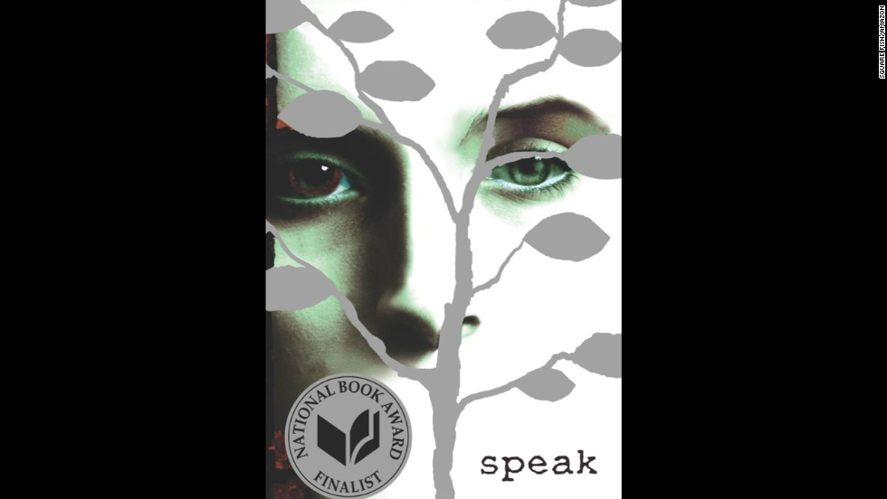 "The YA novel ""Speak"" by Laurie Halse Anderson is recommended for ages 13+ and centers around a high school student who is ostracized by her peers and ends up barely speaking, only expressing herself through art."