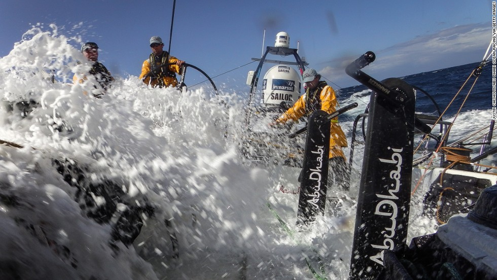 "Once out on the open waves, sailors don't have the comfort of stepping out of a pool. ""Most of the course was spent familiarizing ourselves with the safety kit onboard, discussing the ""what ifs,"" and doing the right thing in the right order,"" said Robertson."