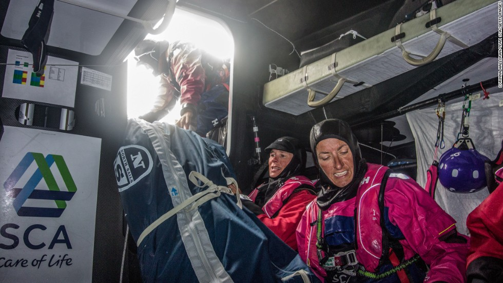 "This year, all-female Team SCA will also be battling it out on the high seas -- the first time in a decade that a women-only crew has taken part.<br /><br />The team will have three more sailors than other boats -- bringing their total to 11.<br /><br />""Even with our extra three people, physically it is really hard,"" said British crew member Sam Davies. ""The guys are stronger than us and so we need all the horsepower we can get."""
