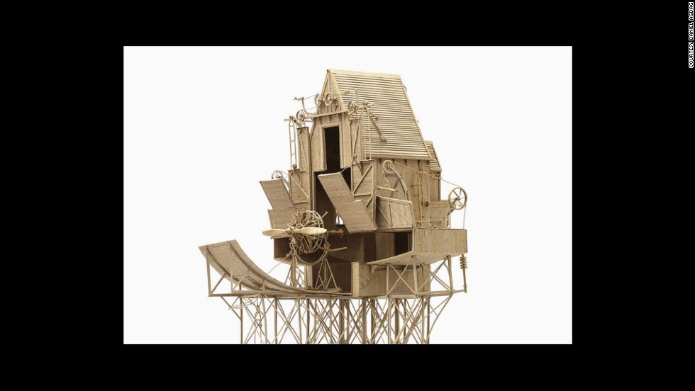 """The Birdhouse"" is constructed entirely from cardboard (and glue)."