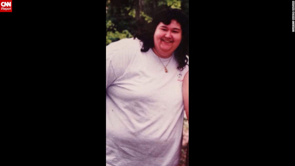 "At her heaviest, <a href=""http://ireport.cnn.com/docs/DOC-1164820"">Angela Baldwin</a> was 350 pounds. Baldwin says she was overweight for her entire life."