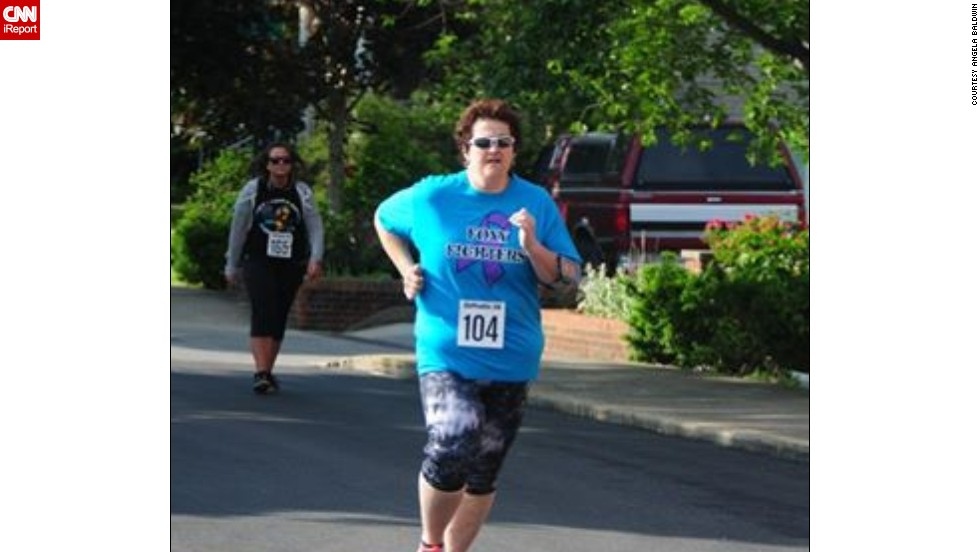 Baldwin started running 5K races, and has completed two this year so far.
