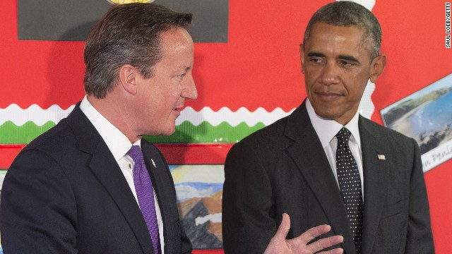 British Prime Minister David Cameron and U.S. President Barack Obama