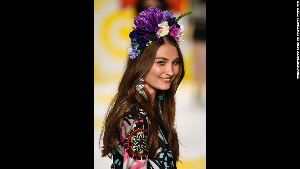 "Spanish brand Desigual brightened up the runways with ""flora and fauna"" inspiration in its spring collection."