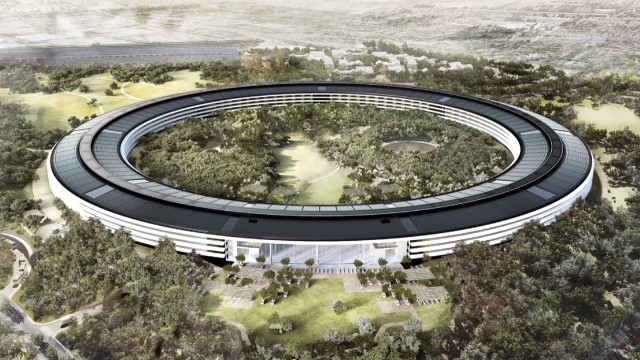 See Apple's new spaceship campus