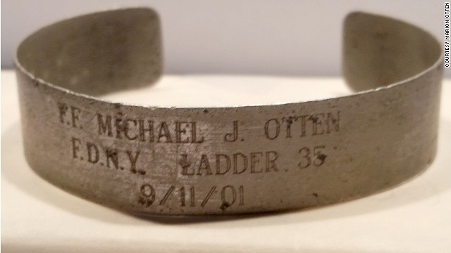 Jonathan Otten now keeps the bracelet bearing his father's name on his bedroom dresser.