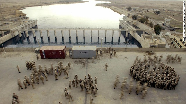 U.S. strikes ISIS near key dam