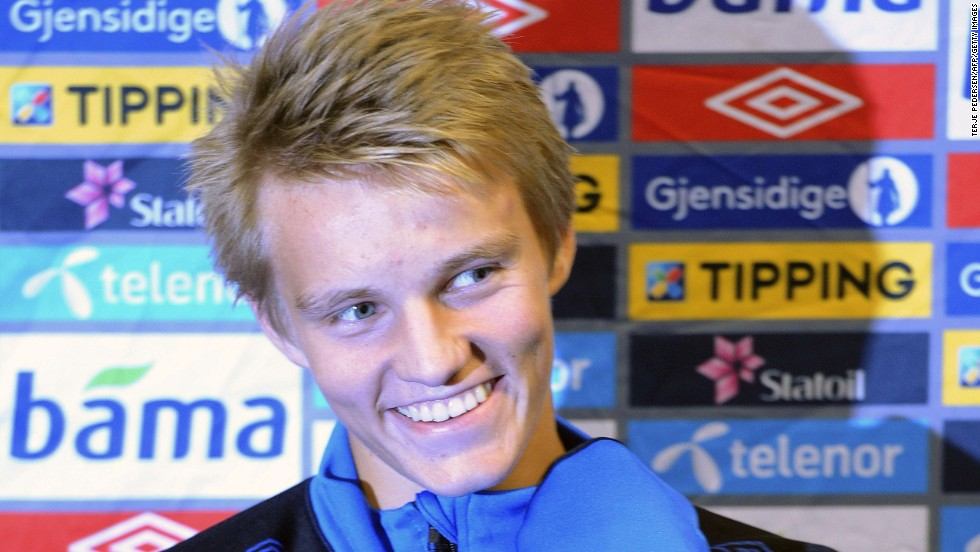 "Odegaard was the youngest player to represent his country since 1910. ""The good thing about Martin is that he always want to be better and is never satisfied,"" says Hans Erik."