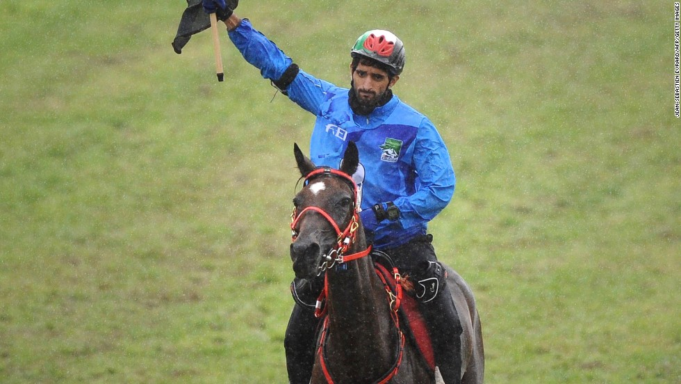 In the individual endurance race, Sheikh Hamdan bin Mohd Al Maktoum of United Arab Emirates was first home in the 160 km competition riding Yamamah.