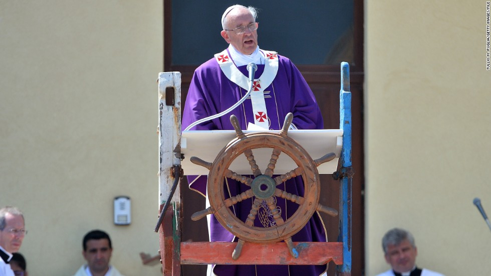 "It follows the Pope's visit to the small island of Lampedusa -- <a href=""http://edition.cnn.com/2013/07/08/world/europe/pope-lampedusa-refugees/index.html?iref=allsearch"">where 366 migrants died in shipwreck in 2013 </a>-- in which he criticized the ""global indifference"" to the refugee crisis. As the closest Italian island to Africa, Lampedusa is a frequent destination for refugees seeking to enter European Union countries and shipwrecks off its shores are common. Many of the migrants are from African nations, while others have fled war-torn Syria, officials say. Others are economic refugees."