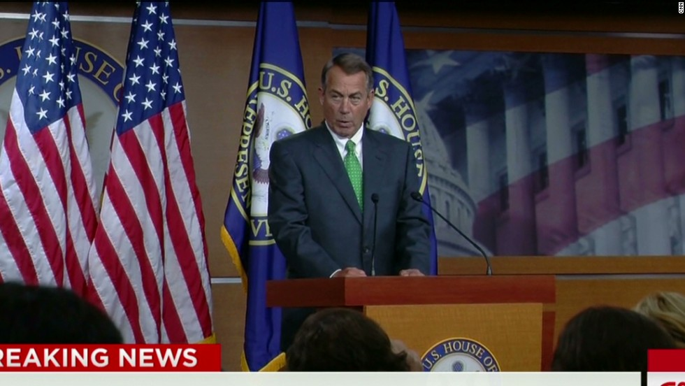 Boehner hits Obama for ruling out boots on the ground