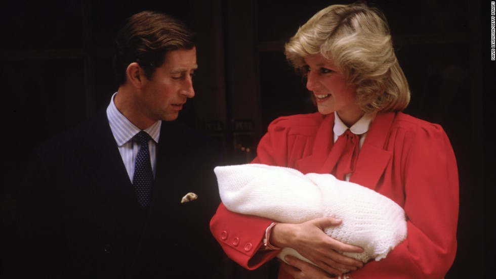 Prince Charles and Princess Diana leave St. Mary's Hospital on September 16, 1984, with newborn Prince Harry.  The prince has grown up in the public eye. Take a look back at his life.
