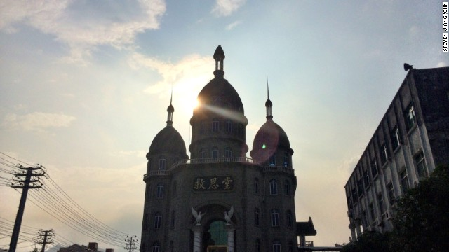 The cross of the Salvation Church in Pingyang County in Wenzhou was removed earlier this year.