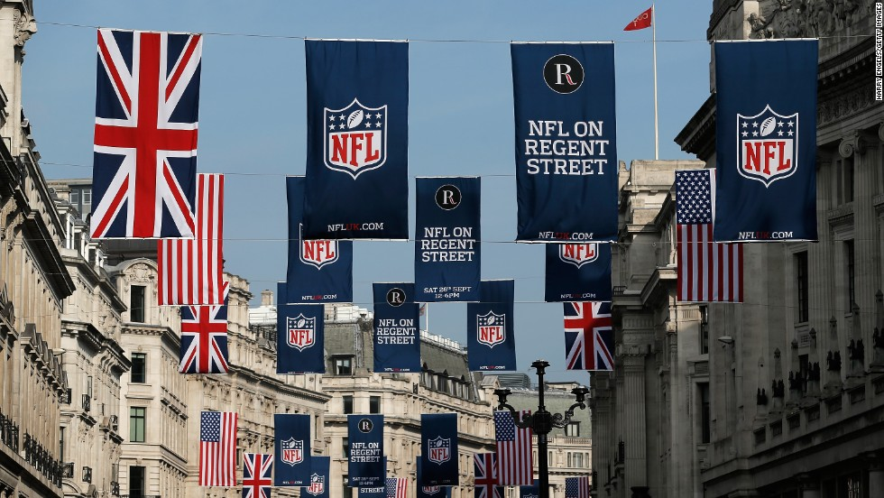 "The series also includes the ""NFL on Regent Street"" event which last year attracted almost 600,000 people to London's famous road."