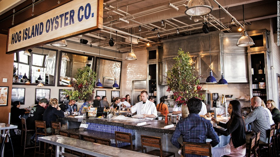 "<a href=""http://hogislandoysters.com/"" target=""_blank""><strong>Hog Island Oyster Company<strong></a></strong>: San Francisco, California</strong>"