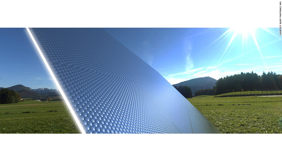 <strong>Panels that never lose their focus</strong><br /><br />The high-cost and low efficiency of solar cells could partly be overcome with new designs by Glint Photonics which focus and capture more incoming sunlight to generate electricity.<br /><br />Their self-tracking solar concentrators can change their reflectivity depending on the direction of incoming sunlight. As the sun moves and the direction its rays come in from also change, the concentrators track this movement and remove reflectivity in just that region of their surface, enabling the light to be enter and become concentrated and trapped to reach a solar cell. <br /><br />Focusing light onto regular solar cells is usually conducted with specially constructed and placed mirrors and lenses which need to be constantly moved as the sun rises and descends across the sky. Removing their need and increasing the amount of sunlight captured could dramatically reduce the cost of solar power.<br /><br />The design is currently a proof-of-concept and the team are working on improving efficiency further.