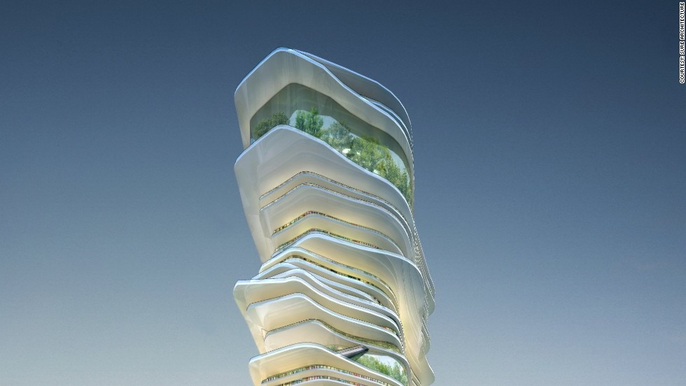 """Endless City"" by Beijing-based firm SURE Architecture is a skyscraper mirroring a city infrastructure."