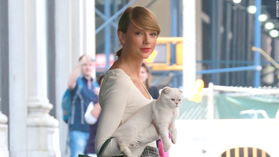 Taylor Swift keeps her friends close and her kitten closer on September 16.