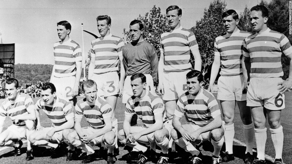 "Celtic became the first British football club to win the European Cup when beating Inter Milan 2-1 in the Lisbon final. Sweetening the success was that all of Celtic's ""Lisbon Lions"" were born within 50 kilometers of the club's home city Glasgow. England's Manchester United won the title the following year but first blood had gone to the Scots."
